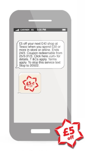 CASE STUDY: Mobile marketing promoting Tesco £5 off promotion