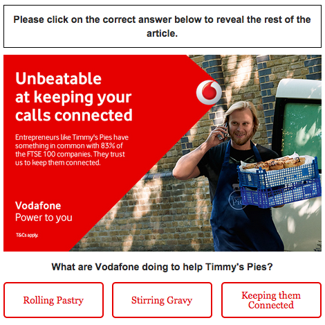 CASE STUDY: Vodafone B2B with high impact digital display