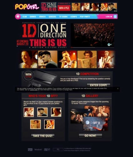 CASE STUDY: Engaging online content to promote 1D Movie