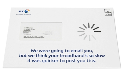 BT USED TARGETED MAIL TO SURPRISE AND SWITCH BROADBAND CUSTOMERS