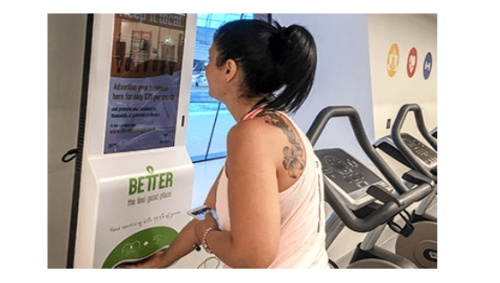 Advertise in Gyms with Digital Media Messenger Kiosks