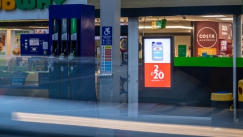 Advertise Your Brand/POS to Captive Audience at Petrol Forecourt