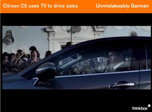 CASE STUDY: Citroen C5 uses TV to drive sales