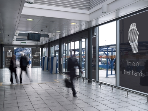 Advertise on London City Airport's Terminal Doors & DLR Walkway